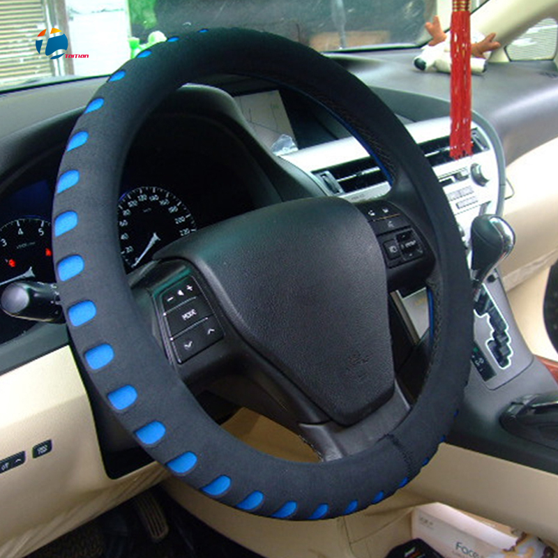 Taitian Sport Punching EVA Car Steering Cover fit Steering Wheel 38 cm Auto Steering Wheel Covers Holder Protector Accessories