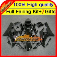 Body Body For YAMAHA Glossy Black YZFR6 YZF 600 06 07 YZF R 6 06 07