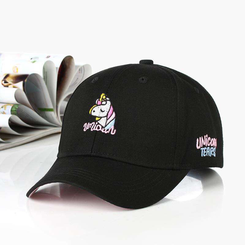 Rainbow Unicorn Baseball Cap Embroidery Fashion Hip Hop Hat Summer Man Woman Snapback Hat Sport Rainbow Horse Bone Gorras