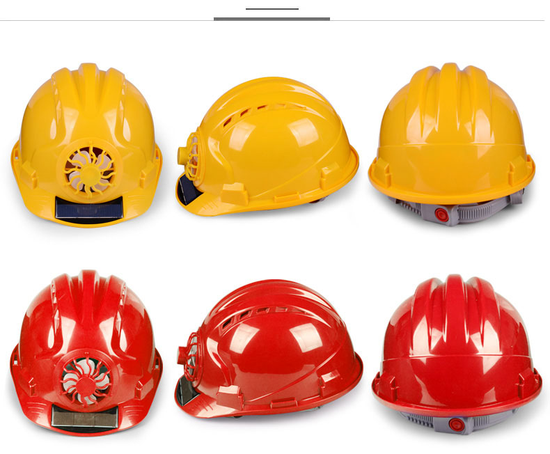 Solar Power Fan Helmet Outdoor Working Safety Hard Hat Construction Workplace ABS material Protective Cap Powered by Solar Panel (10)