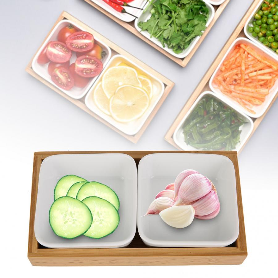 Modren Two Grids Multifunctional Eco-friendly Dried Fruit Tray Candy Snack Plate Holder for Home Restaurant Table Decoration