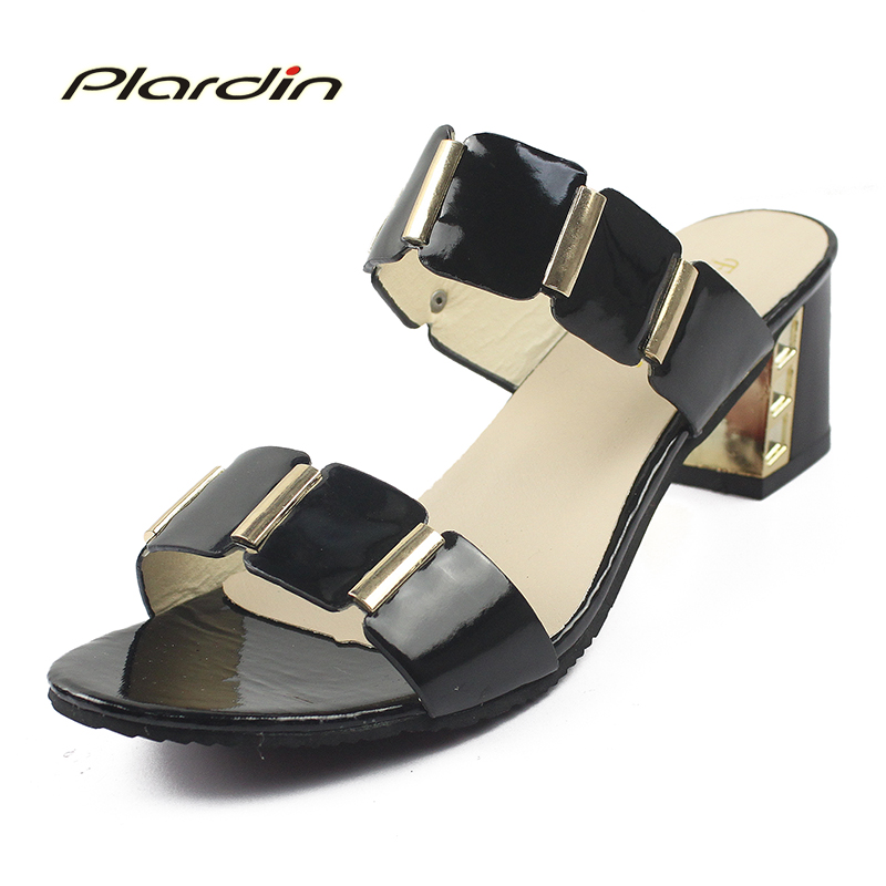 Plardin 2018 Bohemia Summer Casual Peep Toe Women's Flat Platform Sandals Rhinestone Square Heel Beach Sandals Shoes Woman plardin new summer plus size woman indoor and outdoor peep toe square pearl antiskid sandals shoes with one word woman shoes