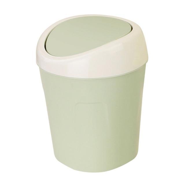 Trash Can Creative Mini Desktop Plastic Bucket Bin 3 Colors Kitchen Household Supplies Small