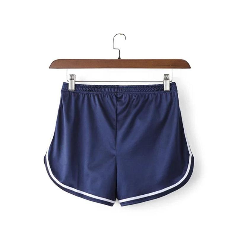 2020 Women's Casual Elastic Waist Summer Short Feminino Glossy Shorts Pantalones Cortos Mujer Shorts Women