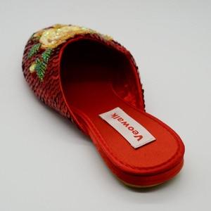 Image 4 - Veowalk בעבודת יד בציר נשים של נעלי העקב שטוח גבירותיי סיני בלינג פאייטים פרח רך Sole מקרית קיץ מחוץ נעליים