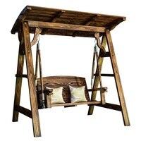 Schommel балкон патио салон Exterieur Винтаж потертый шик открытый деревянная садовая мебель ретро Mueble де Jardin качели стул