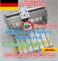 [EU Delivery/Free VAT] 3040 CNC Desktop Aluminium Alloy Frame CNC Machine with 43mm Spindle Clamping Diameter