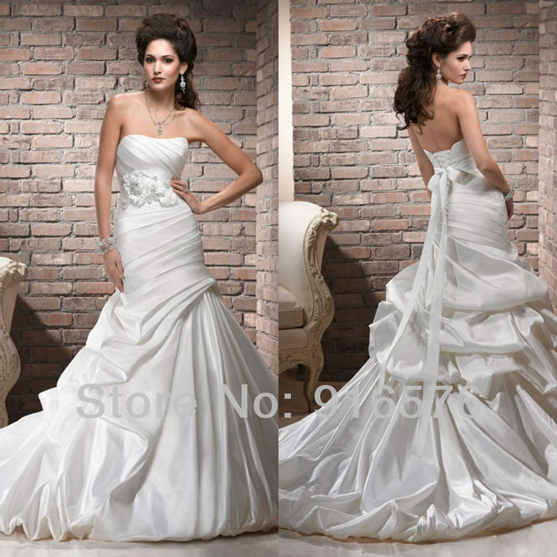 Trumpet Style Wedding Gowns: Beautiful Strapless Mermaid Style 2013 Wedding Dresses