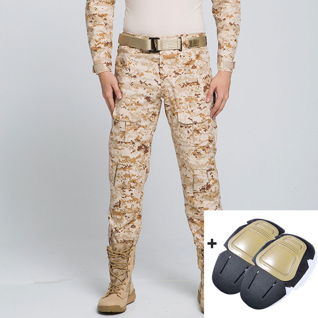 909dd25c85834 Pants Tactical Pants Military Cargo Pants Men Knee Pad Swat Army Airsoft  Camouflage Clothes Hunter Field Combat Trouser Woodland Sports Clothing