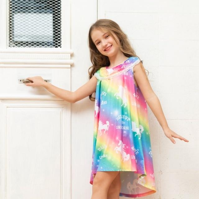 Rainbow Unicorn Princess Dress