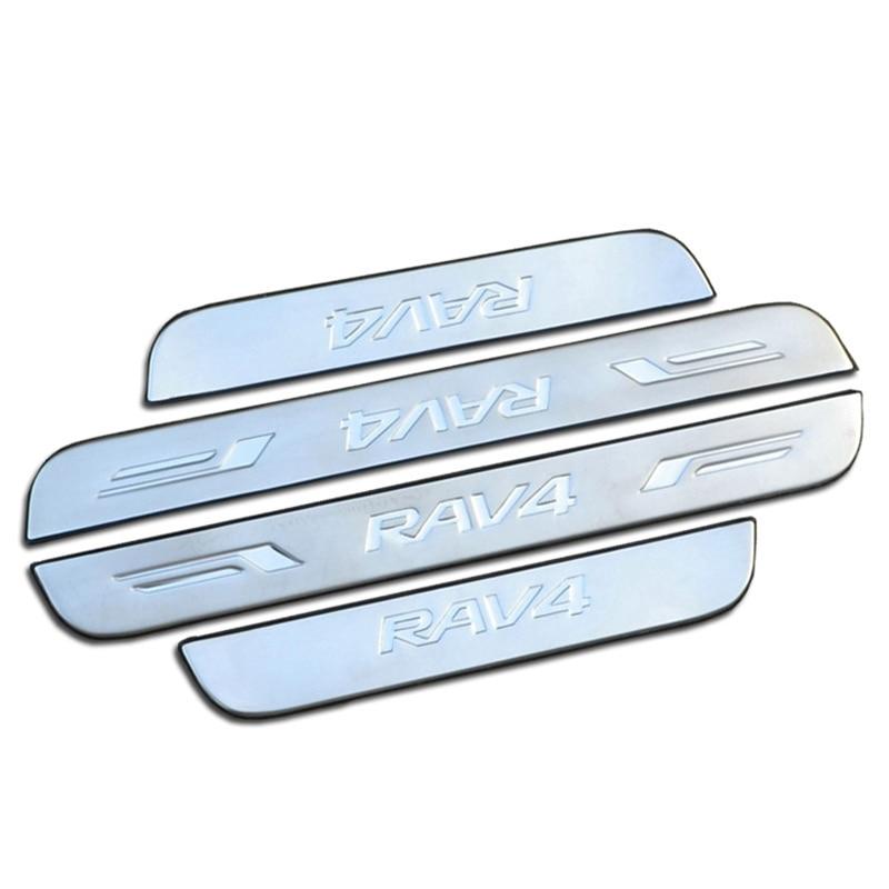 Pour 2008 2012 toyota rav4 rav 4 usure d 39 acier inoxydable for Pancarte bienvenue pour porte