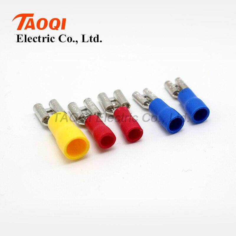 1000pcs/pack FDD2 187(5) Female Pre Insulated Electrical Crimp ...