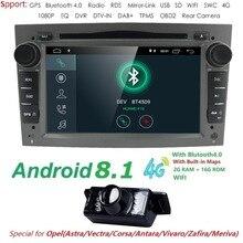 Android 8,1 4 ядра автомобиля Радио мультимедийный плеер 16 GB + 2 GB для Opel Astra Corsa Zafira Vivaro Meriva Vectra с gps Navi WI-FI