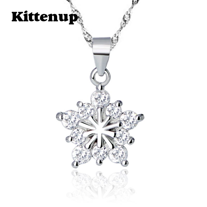 Kittenup Silver Color New Fashion Simple Snowflake Pendant