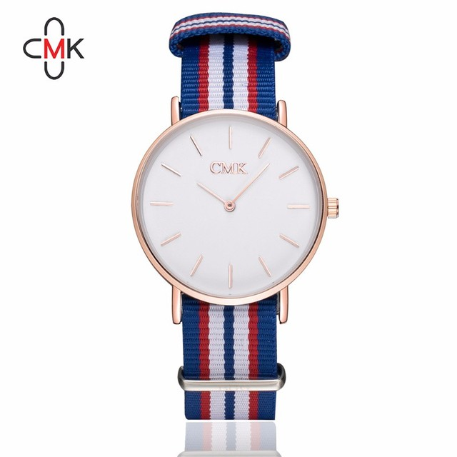 2017 Luxury Brand Clock women watches Draw strap Sports Quartz Watch Casual Couple Models Various styles 10 color Wristwatches