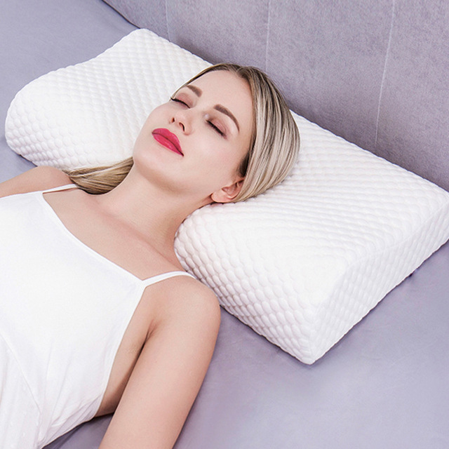 US 50 OFF Memory Foam Contour Pillow Cervical Pillows For Sleeping Relieve Neck Pain With Washable Cover Bed Sleep Pad For Adult Child In