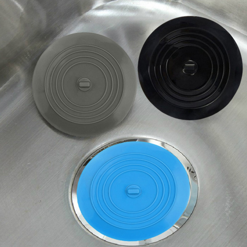 Silicone Sink Drain Plug For Bath Cover Strainer Bathroom Kitchen Sink Accessories Gadgets Waterproof Deodorant Sink Strainer