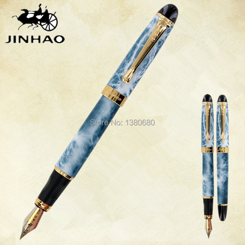 Jinhao X450 Fountain Dark Green and Matte Blue luxury Jinhao 450 Caneta Stationery Office school supplies sketches in lavender blue and green
