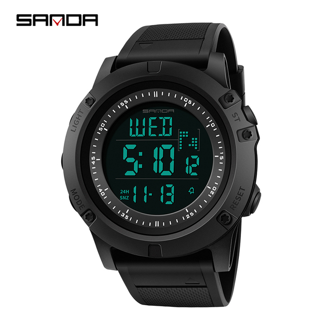 3ebeeed9f49 SANDA Military Countdown Sport Watch Men LED Digital Watch Waterproof  Electronic Men Watches relogio masculino