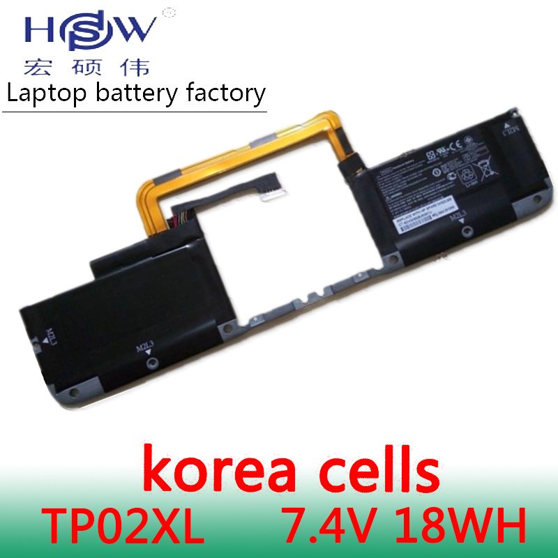HSW New 7.4V 18Wh TP02XL Laptop Battery for <font><b>HP</b></font> SPARE 741523-005 M2L3 HSTNN-IB5U battery for laptop TPN-W110 741348-171 battery image