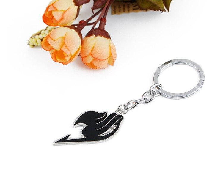 ZRM модный брелок в виде сказочного хвоста, брелок в виде животного, эмалированный кулон, брелок для ключей, держатель, наз и Люся, косплей, Chaveiros Dropshipp - Цвет: Black