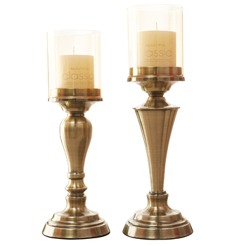 Candlestick European table ornaments between example decorations candlelight dinner props simple modern wedding Candle Holder