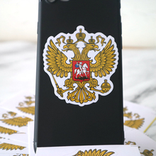 CK2710#6*6.5cm Coat of Arms of Russia funny car sticker colorful decal PVC print car auto stickers for car bumper window car rockstar energy z019 b auto car decal sticker pvc
