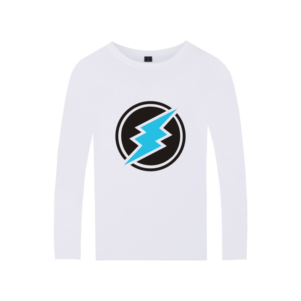 Electroneum Logo Print T-shirt Blockchain Electroneum Cotton Long Sleeve Tees Bitcoin Electroneum cryptocurrencies Summer tshirt 4