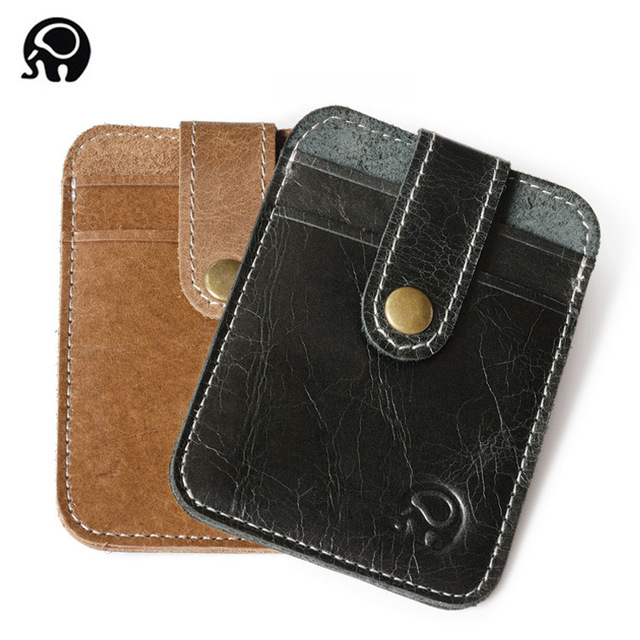 eb4df5e28bb29f SWDF Cow Skin Leather Visiting Cards Men Wallet Business Card Holder Wallet  Slim Card Holder Leather Luxury Skin Card Holders