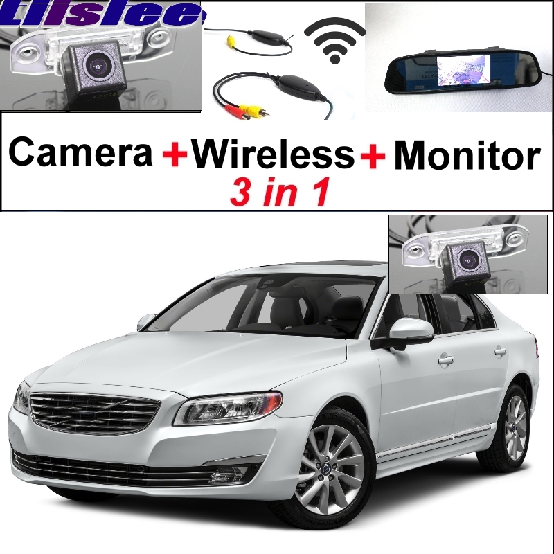 Liilee 3 in1 spécial vue arrière Wifi caméra + récepteur sans fil + miroir moniteur facile bricolage système de stationnement pour Volvo S80 S80L