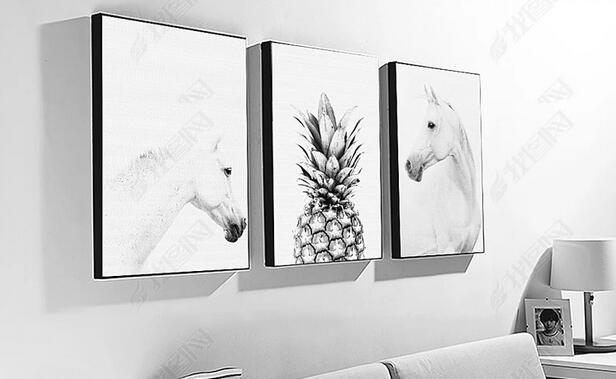 Modern Posters and Prints Animal Horse Pineapple Canvas Painting Nordic Minimalist Wall Art Picture for Living Room Decoration in Painting Calligraphy from Home Garden