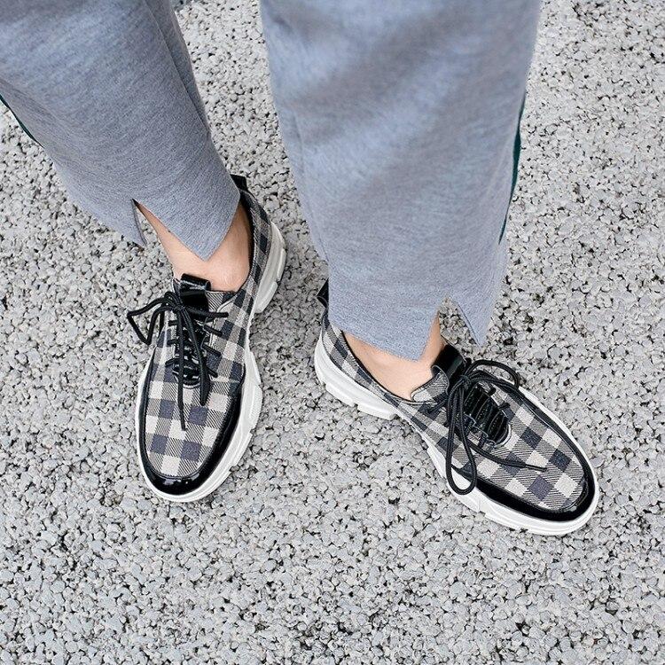 Planos Negro Enredaderas Señoras De Casuales Zorssar Moda Primavera amarillo Plataforma Mocasines Las Mujeres Zapatillas Cuadros A Pisos Mujer 2019 Zapatos U4qxXxFa