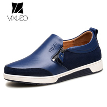 VIXLEO Men Loafers Height Increase Shoes Comfortable Genuine Leather Men Casual Shoes Loafers High Quality