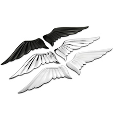 A&P–1 set Angel Wing Car Decoration Motorcycle Sticker 3D Cool Metal Car Sticker Motorcycle Truck Emblem for VW golf 4 5 6/BMW