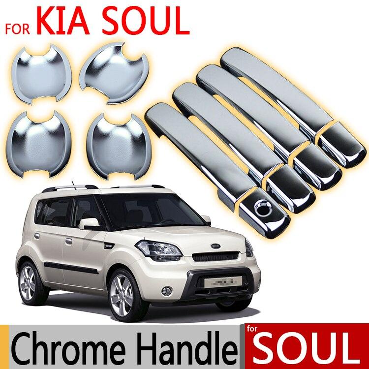 Prix pour Pour KIA Soul (AM) 2011 2012 2013 Chrome Poignée De Porte Couvre L'équilibre Set de 4 Pcs Accessoires De Voiture Autocollants De Voiture Style