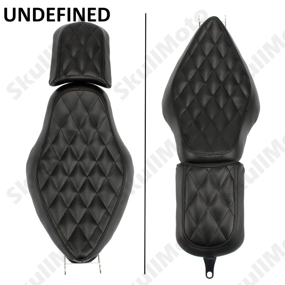 цена на Motorcycle Parts Detachable Black Diamond Two 2-UP Tour Seat For Harley Sportster XL 883 1200 2004-2014 2015 2016 2017 UNDEFINED