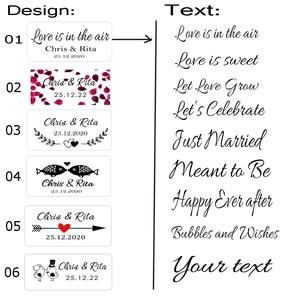 Image 2 - 100 Stks/set Gepersonaliseerde Bruiloft Bubble Labels,Bubble Wand Label Clear, Party Favor Stickers (Exclusief Buis)