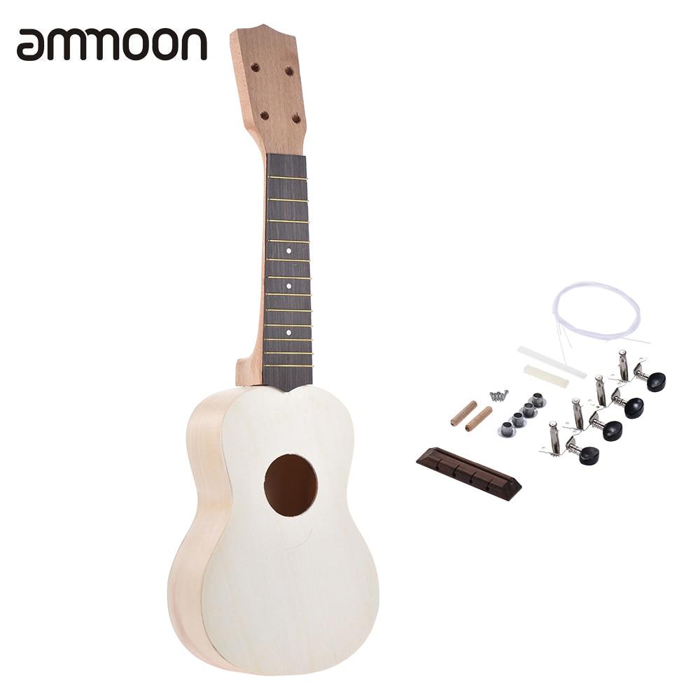 Stringed Instruments Sensible 21 Ukulele Soprano Ukulele Diy Kit Maple Wood Body Ukelele Rosewood Fingerboard With Pegs String Bridge Nut Punctual Timing Musical Instruments