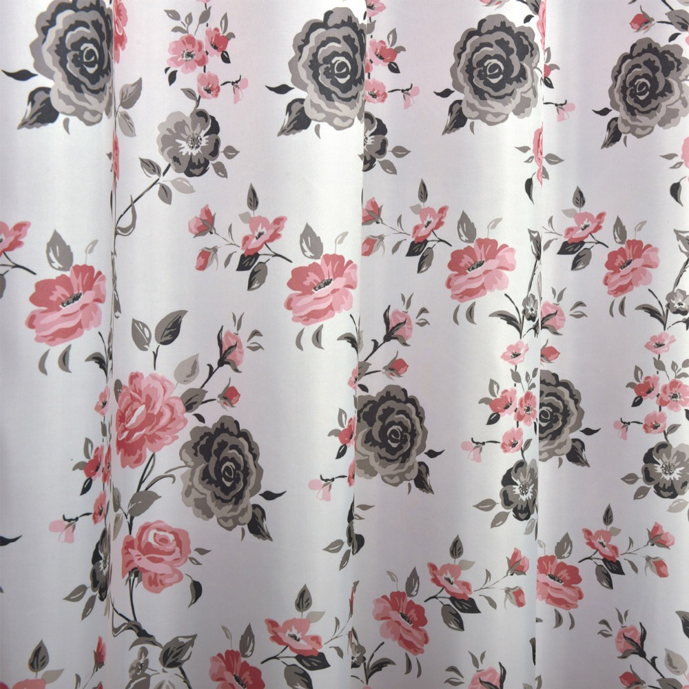 Pink Floral Shower Curtain For Bathroom Eco Friendly Waterproof Polyester High Quality Washable Bath Decor In Curtains From Home