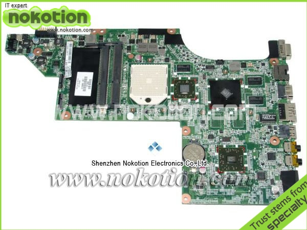 NOKOTION Free Shipping 615686-001 laptop motherboard for HP DV7 motherboard ATI Graphics DDR3 RAM full Tested nv53 laptop motherboard 50% off sales promotion full tested mbbfd01001 48 4fm01 011