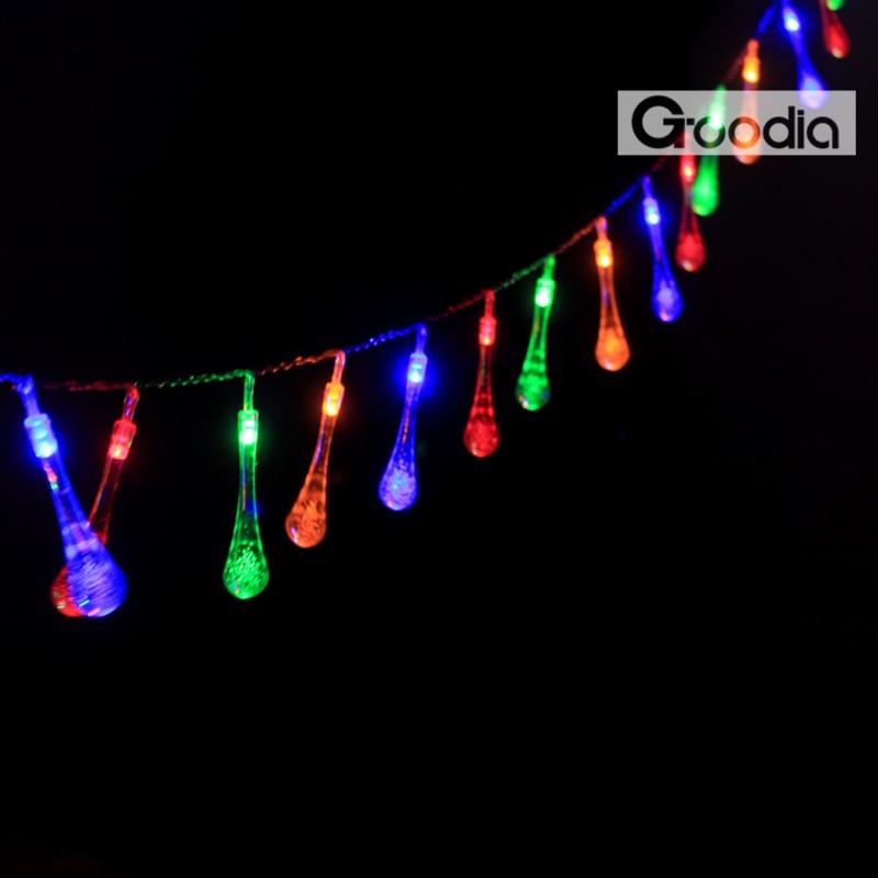 BARU 2.3M 20LED 3xAA bateri Waterproof Crystal Bubble Water Drop - Pencahayaan perayaan - Foto 3