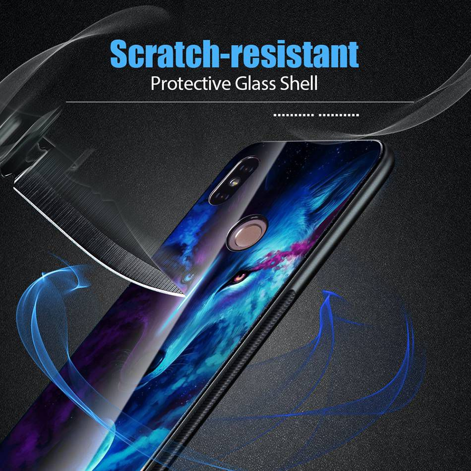 Tempered Glass Case For Xiaomi Redmi Note 5 5 Pro 5 Plus Note 4X Case Luxury Animal Pattern Case For Xiaomi Mi 8 A1 5X Coque     (5)