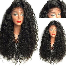 Charisma Heat Resistant Hair Synthetic Lace Front Wig for Black Women Curly Wigs with Baby Hair Glueless Wig Natural Hairline