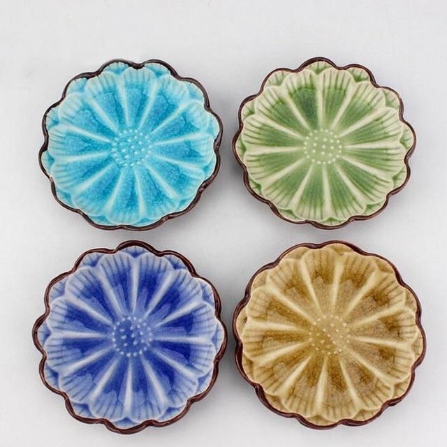 11*2.3 cm Stile Giapponese Colorato di Ceramica Girasole Forma di ...