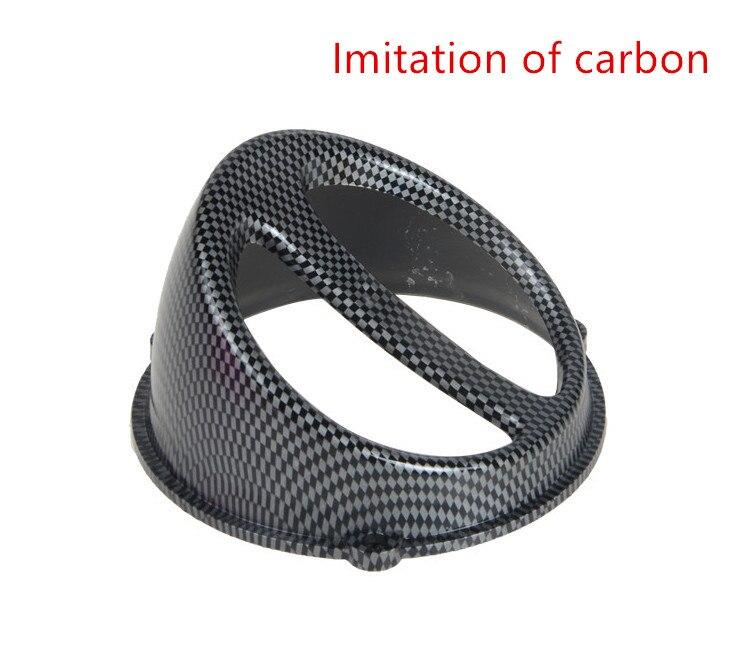Accesorios de la motocicleta Scooters universal modificada de imitación de fibra de carbono cubierta del ventilador para YAMAHA SUZUKI HONDA
