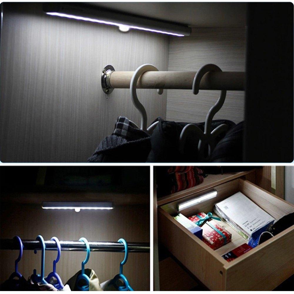 где купить  10 LEDs Light PIR Auto Motion Sensor Light Intelligent Portable infrared Induction Lamp Night Lights for Cabinet Hotel Closet  по лучшей цене