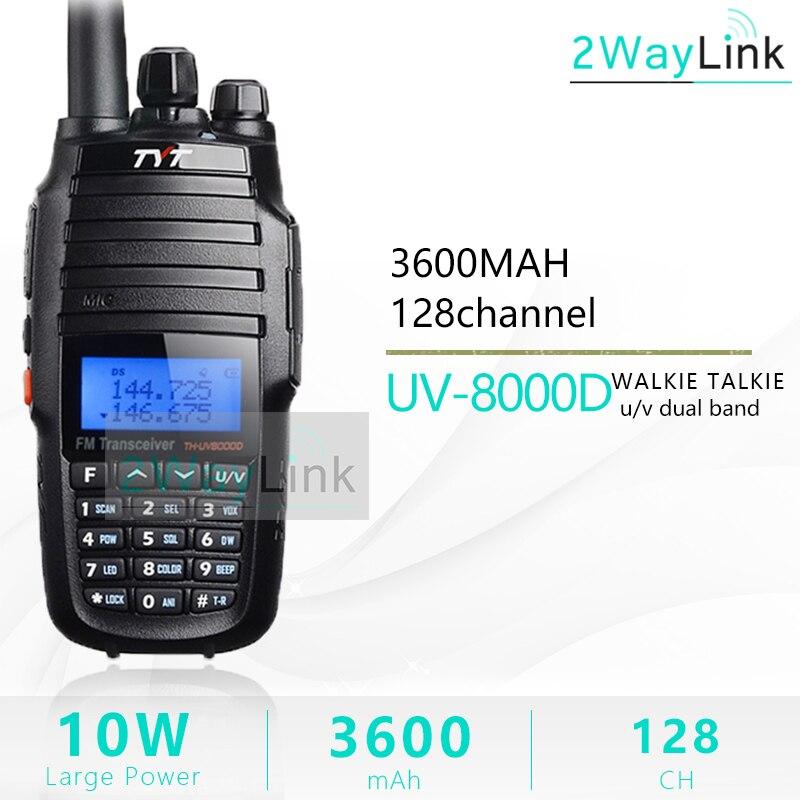 TYT TH UV8000D Walkie Talkie 10 KM dwuzakresowy VHF i UHF 10W 10 km radio dla amatorów 3600mAh Cross  zespół Repeater funkcji tyt radio w Krótkofalówki od Telefony komórkowe i telekomunikacja na AliExpress - 11.11_Double 11Singles' Day 1