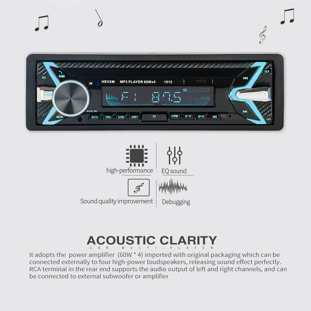 Image 2 - 1012 Wireless Car Kit Multifunction Bluetooth Vehicle MP3 Player U Disk player 3.5mm AUX FM Radio Audio Adapter Car charger-in Car MP3 Players from Automobiles & Motorcycles