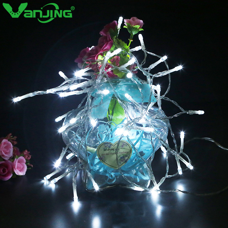 2M 20leds LED Holiday String Lights With Battery Case Little Garland Xmas Party Garden Festival Party Wedding Decoration Lights
