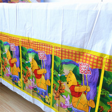 Bear Party Supplies Plastic Tablecloth Birthday Decoration Baby Shower Table Cloth 108x180cm
